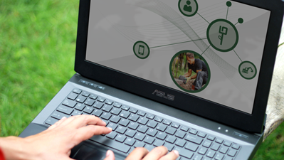 Notebook Onlinepräsentation Digitalisierung