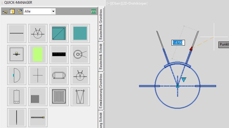 AutoCAD-Bibliothek mit dynamischen Blöcken: Element Kugelstoßring